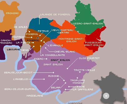 mapa saint emilion